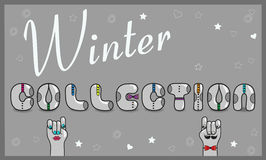 Inscription Winter Collection.  Illustration Royalty Free Stock Images