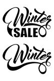 Inscription Winter Sale Royalty Free Stock Photos