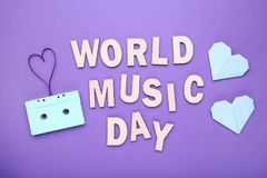 Inscription World Music Day royalty free stock photography
