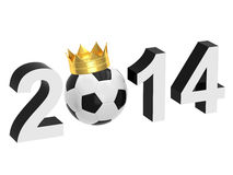 2014 with a soccer ball. Inscription year 2014 with a soccer ball on a white background Vector Illustration