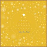 An inscription on a yellow background. Picture of snowflakes and congratulatory inscription on a yellow background Stock Image