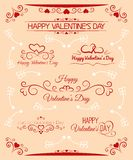Inscriptions beautiful set for Valentines Day Royalty Free Stock Image