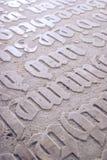 Inscriptions gothiques Image libre de droits