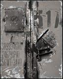 Inscriptions rayées de surface en métal Photographie stock libre de droits