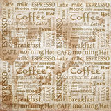 Inscriptions related to coffee Royalty Free Stock Images