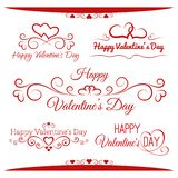 Inscriptions set for Valentine's Day Royalty Free Stock Photography