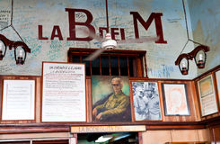Inscriptions on the wall in La Bodeguita del Medio Stock Image