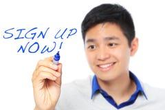 Inscrivez vous dès maintenant ! Image stock