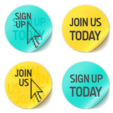 Inscrivez-vous et joignez-nous Image libre de droits