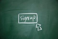 Inscrivez-vous le bouton Image libre de droits