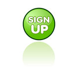 Inscrivez-vous le bouton de Web Photographie stock