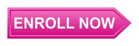 inscrivez-vous maintenant le bouton illustration stock