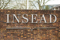 INSEAD BRAND FONTAINEBLEAU CAMPUS Stock Images