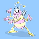 Insect. Presenting something in color royalty free illustration