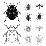 Insect, bug, beetle, paw .Insects set collection icons in black,outline style vector symbol stock illustration web. vector illustration