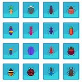 Insect bug icon blue app. For any design vector illustration Stock Photography