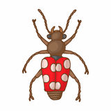 Insect bug icon, cartoon style Royalty Free Stock Images