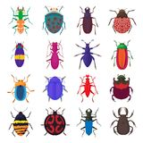 Insect bug icons set, cartoon style. Insect bug icons set in cartoon style isolated on white background royalty free illustration