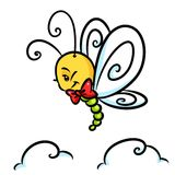 Insect butterfly flight cartoon Stock Photo