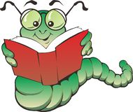 Insect Caterpilar. Caterpillar was reading a book Royalty Free Stock Image
