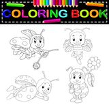Insect coloring book. Illustration of insect coloring book Stock Image