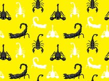 Insect Cute Scorpion Seamless Wallpaper Stock Photography