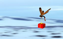Insect dat de gift draagt Royalty-vrije Stock Foto