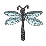 Insect dragon-fly on the white background Royalty Free Stock Images