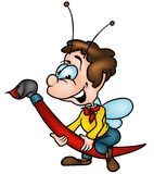 Insect en Borstel Royalty-vrije Stock Afbeelding
