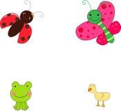 Insect en dier royalty-vrije illustratie