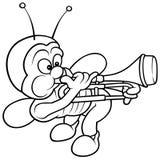 Insect en Trombone Stock Foto's
