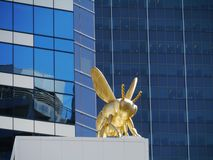 Insect on the Eureka tower in Melbourne Stock Photography