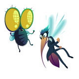 Insect, fly and mosquito Stock Photography