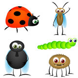 Insect Funny Cartoons Royalty Free Stock Photo