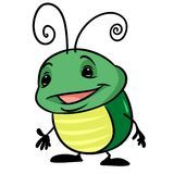 Insect green beetle cartoon Royalty Free Stock Image