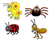 Insect Group. Vector illustration of a group of insects Stock Photography