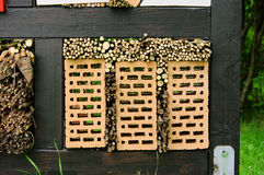 Insect hotel. Help for the nature Stock Photography