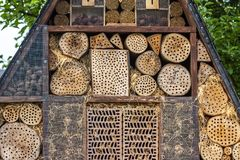 Insect hotel for brood care. And nature protection royalty free stock images