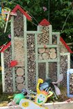 Insect Hotel. A colorful purpose built shelter for insects Royalty Free Stock Photography