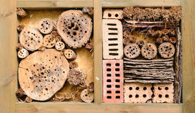 Insect hotel in garden Stock Images