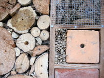 Unique background. Insect hotel Royalty Free Stock Photos