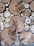 Unusual Background. Insect hotel. wood Royalty Free Stock Photography