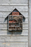 An insect hotel was installed in a park in Nantes (France) Royalty Free Stock Images