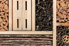 Insect hotel for wild bees, butterfly . . . Stock Image