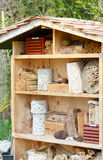 Insect hotel for wild solitary bees and other insects Stock Image