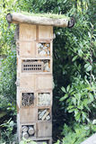 Insect hotel for different kind of insects, save the insects  Stock Image