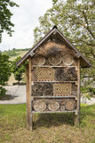 Insect hotel for different kind of insects, save the insects  Royalty Free Stock Image