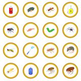 Insect icon circle. Cartoon isolated illustration vector illustration