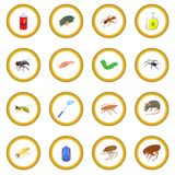 Insect icon circle Stock Image