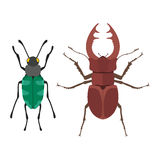 Insect icon flat isolated vector illustration. Royalty Free Stock Images
